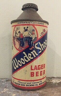 Irtp-Wooden Shoe Lager Cone Top Beer Can-Wooden Shoe Brewing Co-Minster Ohio