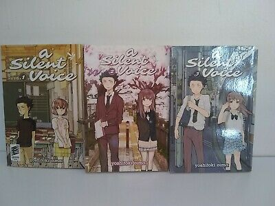 A Silent Voice Manga Vol 1-3 very good Condition