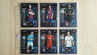 TOPPS - MATCH ATTAX CHAMPIONS & EUROPA LEAGUE 19/20 - 100 CLUB CARDS - inc MESSI