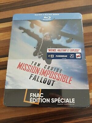 MISSION IMPOSSIBLE FALLOUT Steelbook Blu Ray EDITION FNAC NEUF SOUS BLISTER