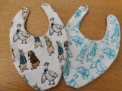 Baby boy/girl bandana bibs Peter Rabbit handmade super soft