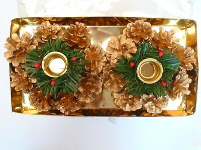 Pack of 2 x Christmas candle holders