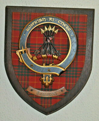 Large Clan Cameron wall plaque shield crest scottish Scotland