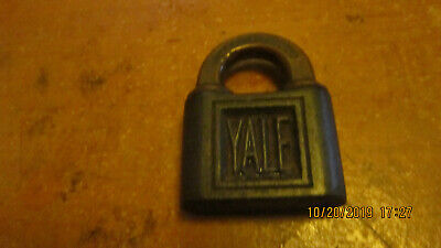 Antique Yale and Town ironl padlock with brass hasp