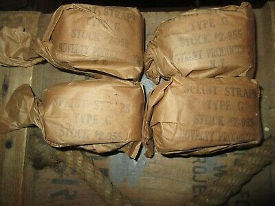 WWII WW2 SPLINT STRAPS, Bandages For First Aid Medic Bag Pouch US ARMY USMC