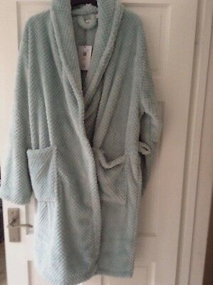 John Lewis Soft Waffle Green Dressing Gown Robe. Size Large. New With Tag-Defect