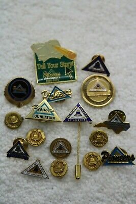 Huge Lot of Pioneer Telephone Employee & Officer Pins Gold Filled