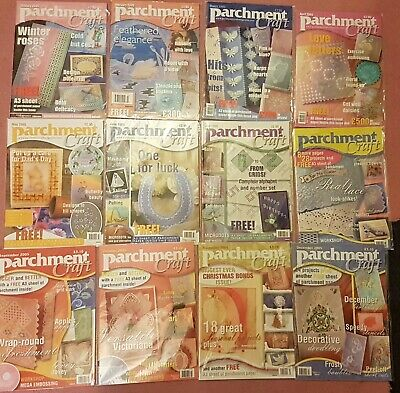 Job lob Parchment craft magazine complete year 2005 craft clear out Pergamano