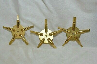 5- Prong Clock Key Size Gauge Set.  Even, Odd , Hi-Lo
