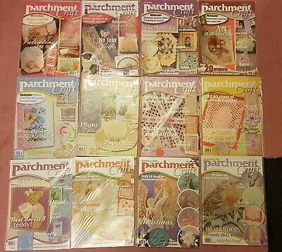 Job lob Parchment craft magazine complete year 2006 craft clear out Pergamano