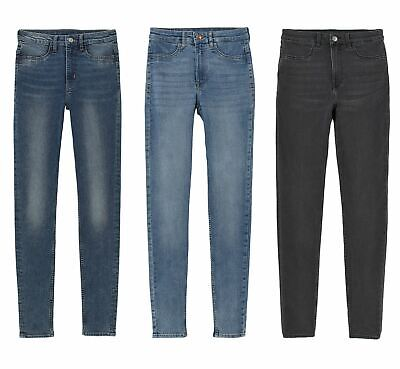 Ex High Street H/&M Super Stretch Skinny Jeans Blue Sizes 8-12 *NEW*