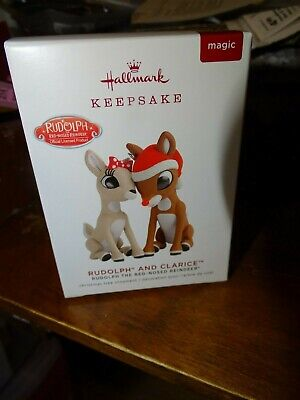 Hallmark Rudolph the Red-Nosed Reindeer Rudolph and Clarice Ornament 2019