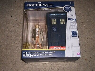 Doctor Who The Fifth Dr and Tardis Collector Figure Set