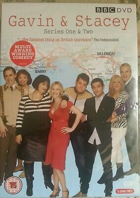 Gavin And Stacey - Series 1-2 (DVD, 2008, 3-Disc Set) New Sealed