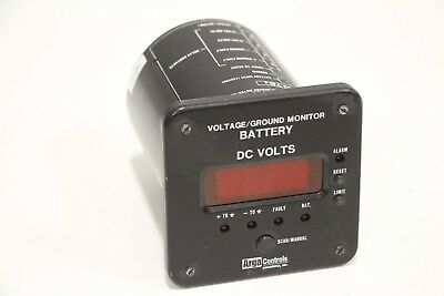 Arga Controls BATTERY MONITOR  VOLTAGE/GROUND METER/ALARM RELAYS 25-469