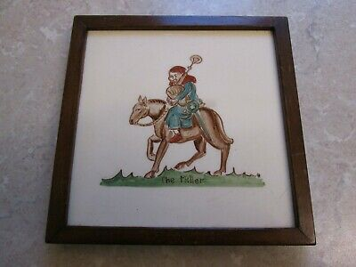 Vintage Packard & Ord Canterbury Pilgrims - The Miller - Ceramic Tile