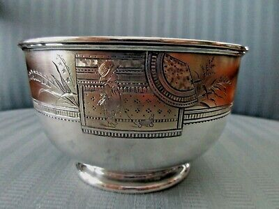 WHITING Bowl AESTHETIC Parcel GILT Baby STERLING SILVER Figural NURSERY CHILD 65