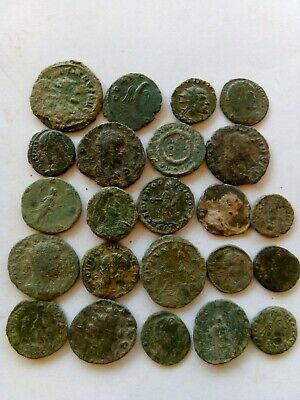 002.Lot of 22 Ancient Roman Bronze Coins,Uncleaned