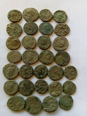 008.Lot of 30 Ancient Roman Coins,Uncleaned