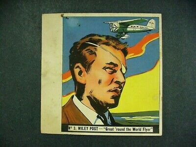 1936 History Of Aviation Series  Goudey Gum Co. Card - #3 Wiley Post