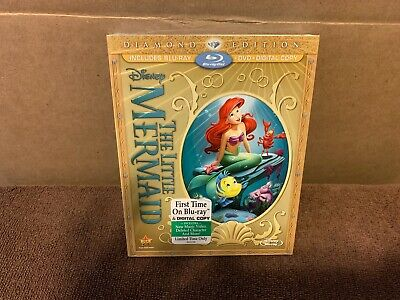 The Little Mermaid ( Blu-ray + Dvd) Diamond Collection NEW Disney No Digital