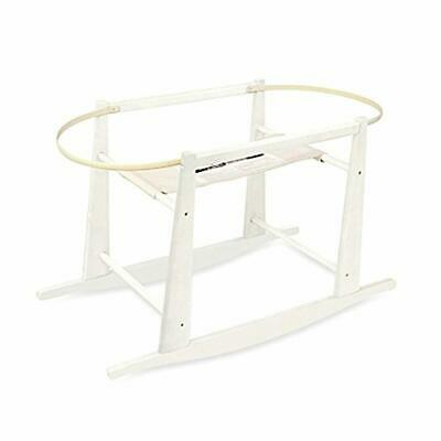 Jolly Jumper Rocking Wooden Moses Basket Stand, Antique White