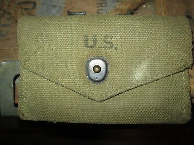 WWII WW2  M1942 Carlisle pouch Bandage First Aid Packet Pouch US ARMY  ORIGINAL