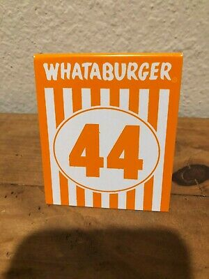 Individual WHATABURGER Restaurant Table Tent Numbers #44