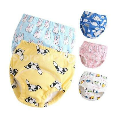 6-Layer Baby Cotton Training Pants Cloth Diapers Child Nappies Panties Reusable