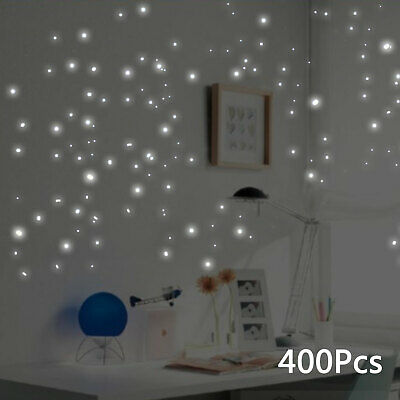 400Pcs Glow In The Dark Star Luminous Round Dot Wall Stickers Ceiling Home Decor
