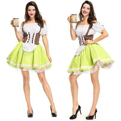 Women Bavarian Dress Traditional German Dirndl Dress Oktoberfest Beer Costume