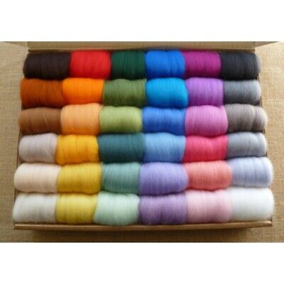 Corriedale Dyed Spinning Wet Felting Fiber 36 Color Roving Needle Felting Wool