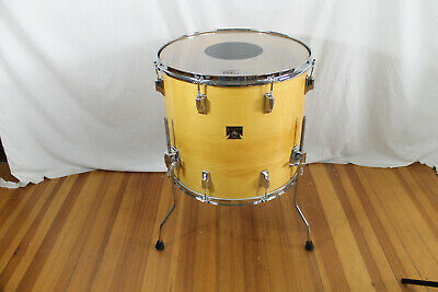 "Vintage 1983 Tama Superstar 16""x18 natural maple floor tom. made in Japan  lot#2"