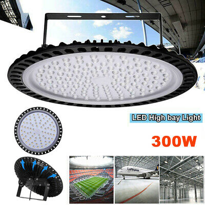 300W UFO LED High Bay Light Day Cool White Yard Commercial Warehouse Industrial