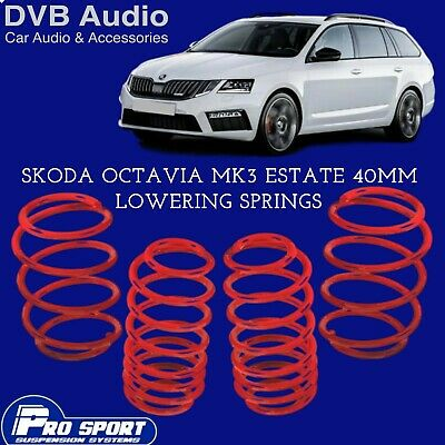ProSport Lowering Springs for Skoda Octavia mk3 Estate UK Seller 122344