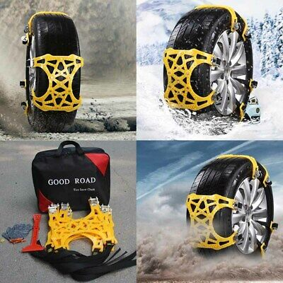 6x Car Snow Tire Anti Skid Chains Thickened Beef Tendon Wheel Chain for Mud Road