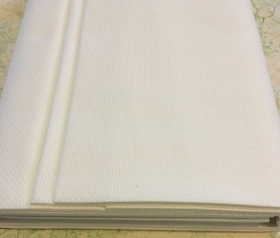 16ct - 16 count Zweigart Antique White Aida Cloth - Assorted Pre-cut Sizes only