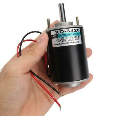 1Pcs XD-3420 12//24V 30W Permanent Magnet DC Electric Motor High Speed CW//CCW DH