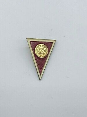 Vintage East German Officer RARE Red Military Academy Badge