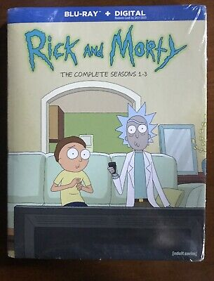 Rick And Morty: The Complete Seasons 1-3 (Blu-ray, 2019) Brand New No digital