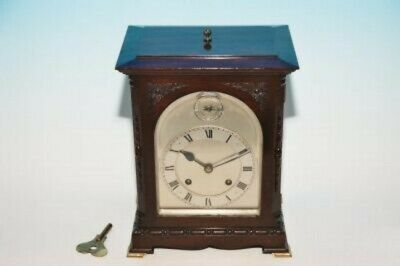 Lovely Antique Mahogany J J Elliot Mantel / Bracket Clock  With Jje Movement
