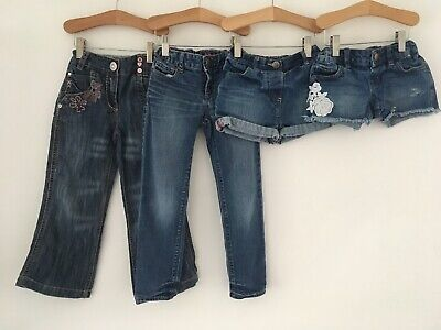 Girls Age 3-4/ 4-5 Years Denim Jeans & Denim Shorts Bundle Next Gap Denim Co Etc