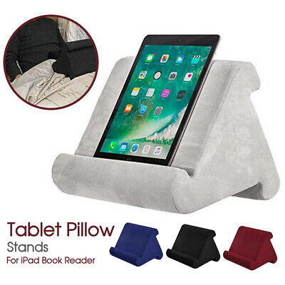 Tablet Pillow Stands For iPad Book Reading Cushion Reader Holder Rest Laps BO