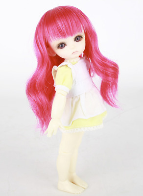 """For My Doll Wig Hot Pink 5-6"""" 1/8 BJD"""