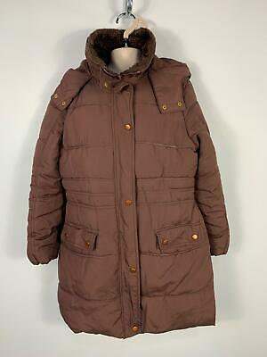 Girls Y.d Primark Brown Padded Zip Up Winter Hooded Coat Kids Age 11/12 Years
