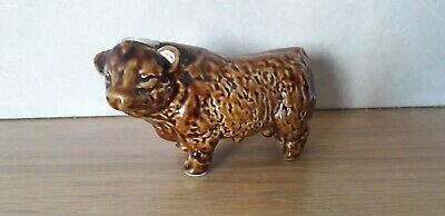 Vintage...retro...pottery Bull...bull...miniature Bottle..collectable...display