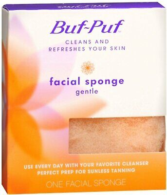 Buf-Puf Facial Sponge Gentle for Clean & Refreshed Skin 1 Count (Pack of 24)