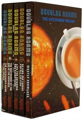 The Hitchhikers Guide To The Galaxy Trilogy Collection 5 Books Set PB NEW