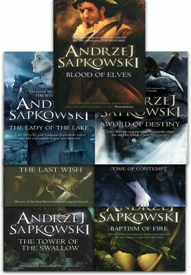 Andrzej Sapkowski Witcher Series Collection 7 Books Set (The Last Wish, Sword of
