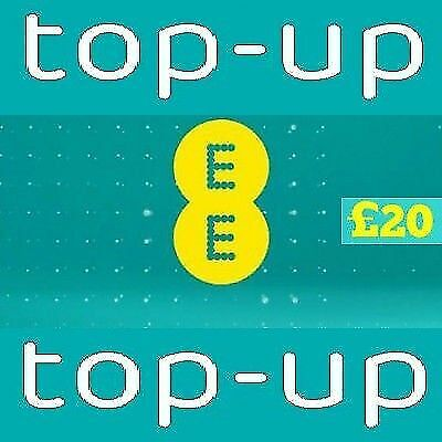 EE - £20 - Mobile phone Top Up Vouche - Pay as You Go